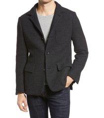 men's corneliani men's knit wool sport coat, size 42 us - grey