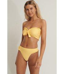 anika teller x na-kd bikiniunderdel med hög midja - yellow