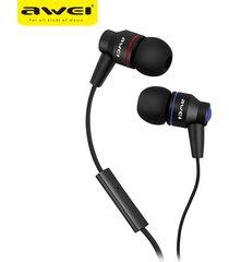 audífonos bluetooth manos llibres, awei es-800i in-ear stereo con micrófono marca profesional auricular (negro)