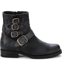 veronica leather booties