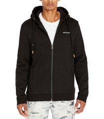 avirex men's embroidered ice tiger full-zip hoodie