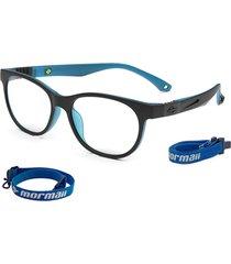 óculos de grau mormaii jump preto parede azul fosco preto