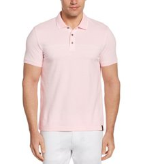 men's jacquard chest stripe short sleeve polo shirt