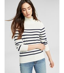 charter club cashmere striped mock-neck sweater, created for macy's