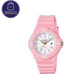 reloj casio lrw_200h_4b2v rosa resina