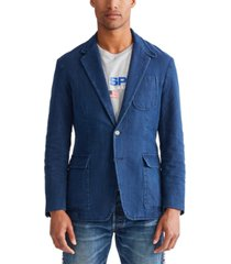 polo ralph lauren men's indigo canvas sport coat