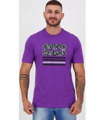 camiseta hurley silk boardlines roxa - masculino