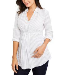 a pea in the pod maternity roll-sleeve shirt