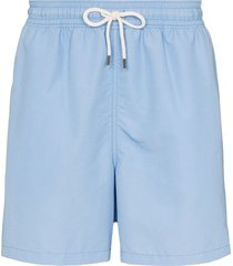 polo ralph lauren traveller swim shorts - blue
