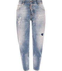 'hockney' patched jeans