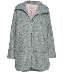 my perfect wrapping jacket outerwear faux fur blå odd molly