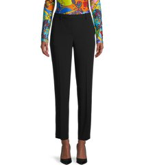 theory women's treeca high-waist flat-front pants - black - size 4
