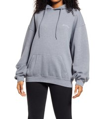 women's bdg urban outfitters longline hoodie, size x-small - blue