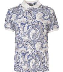 etro cotton piquet polo shirt
