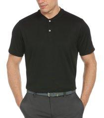 pga tour men's moisture-wicking baseball-collar pique polo shirt