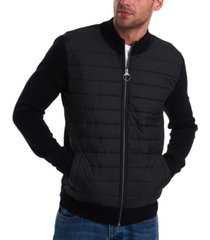 barbour men's paneled cardigan