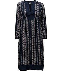 helena dress knälång klänning blå lexington clothing