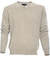 sweater cuello v algodón melange claro mcgregor