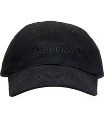 balenciaga hats in black cotton