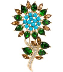 grace kelly collection 18k gold plated heine brooch