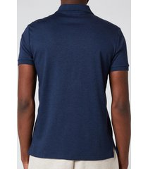 polo ralph lauren men's interlock pima polo shirt - spring navy heather - s