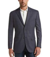 pronto uomo platinum modern fit sport coat blue check