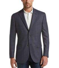 pronto uomo platinum modern fit sport coat blue check