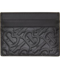 men's burberry sandon tb monogram leather card case -