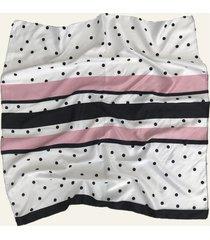 pañuelo blanco nuevas historias lunares y rayas ba1307