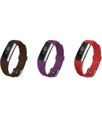 posh tech unisex fitbit alta assorted silicone watch replacement bands - pack of 3