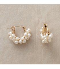 14kt gold filled froth of pearls hoop earrings
