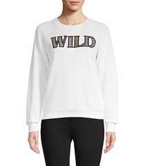 graphic cutout cotton-blend sweatshirt