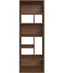 estante multiuso 160cm modern office 8 nichos madeirado e estilare móveis