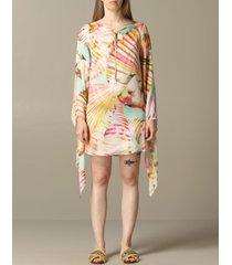 blumarine dress blumarine dress in printed silk twill