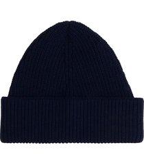 maison margiela hats in blue wool