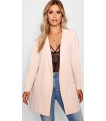 plus oversized tie blazer, blush