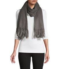 fringed rabbit fur wool wrap scarf