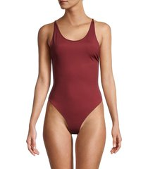 free people movement women's got sculpted bodysuit - red - size m