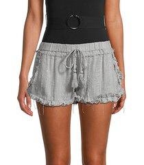 sequined ruffled shorts