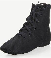 scarpe nere in tela comoda e respirabile con lacci da jazz ballo e danza