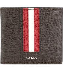 bally trasai bifold wallet - brown