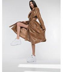 płaszcz / sukienka typu trencz ekoskóra wąż
