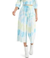 inc tie-dye wide-leg sweatpants, created for macy's