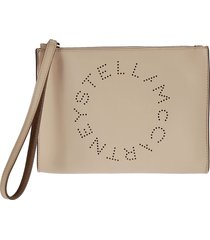 perforated logo clutch