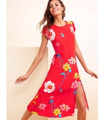 loft lily cap sleeve midi dress
