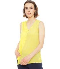 blusa ash amarillo - calce regular