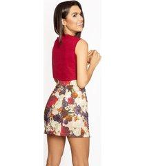 falda de flores rojas ophelia - ananá