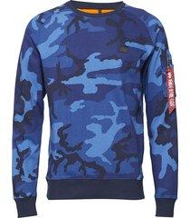x-fit sweat sweat-shirt tröja blå alpha industries