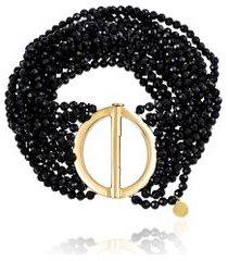 bracelete boho circulo oa com fios de espinelio - u