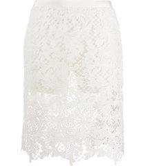 sacai crochet knit shorts - white